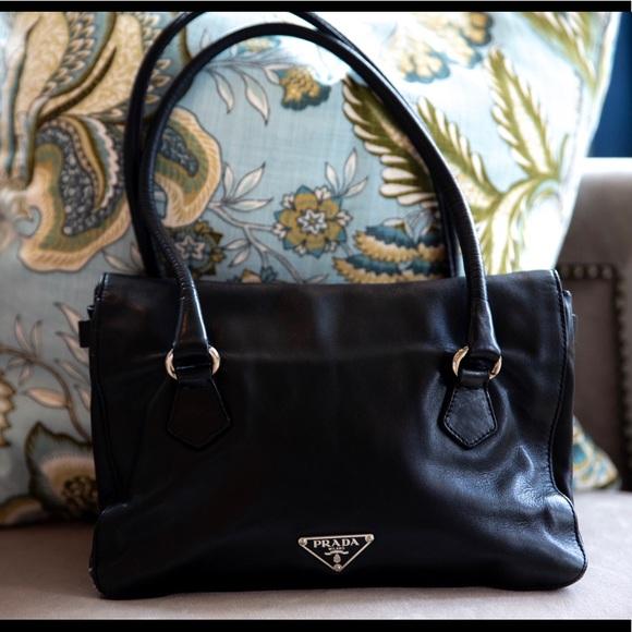 832dffc892ae Prada Bags | Black Leather Mini Tote 100 Authentic | Poshmark